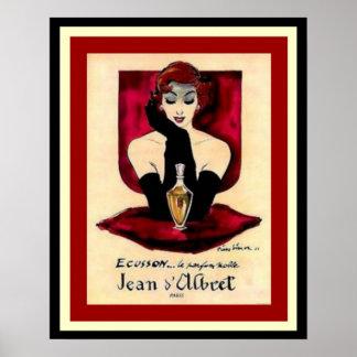 Ecusson Vintage Parfum Ad Poster