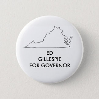 Ed Gillespie for Virginia Governor 2017 6 Cm Round Badge