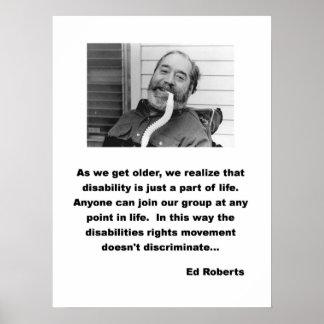 Ed Roberts ADA speech Poster