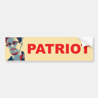 Ed Snowden Patriot Bumper Sticker