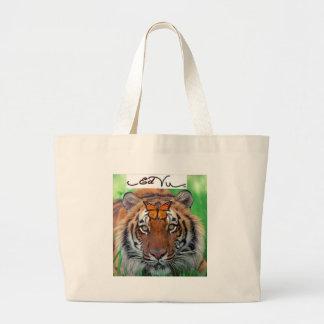 Ed Vu Tiger Monarch butterfly Jumbo Tote Bag