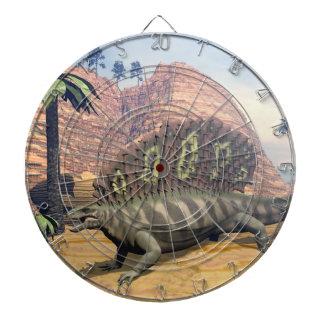 Edaphosaurus dinosaur - 3D render Dartboard