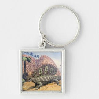Edaphosaurus dinosaur - 3D render Key Ring