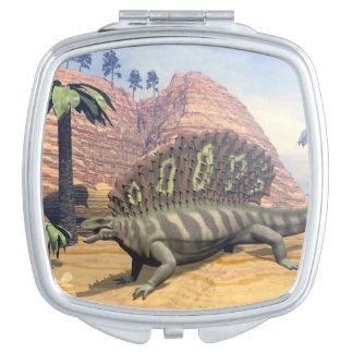 Edaphosaurus dinosaur - 3D render Makeup Mirrors