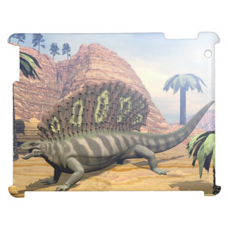 Edaphosaurus dinosaur walking in the desert case for the iPad 2 3 4
