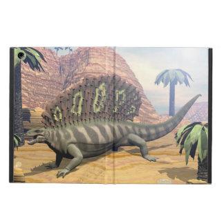 Edaphosaurus dinosaur walking in the desert iPad air case