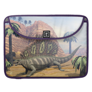 Edaphosaurus dinosaur walking in the desert sleeve for MacBook pro
