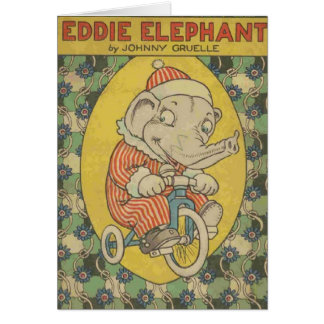 Eddie Elephant Book Cover Card