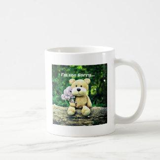 Eddy bear is sorry coffee mug