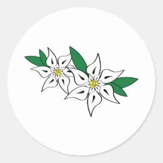Edelweiss Classic Round Sticker