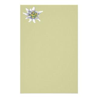 Edelweiss flower stationery