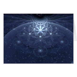 Edelweiss Flowers Fractal Art Card