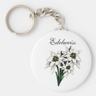 Edelweiss Flowers Key Ring