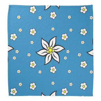 Edelweiss on Blue Bandana