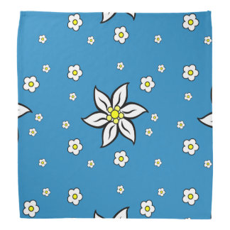 Edelweiss on Blue Do-rags