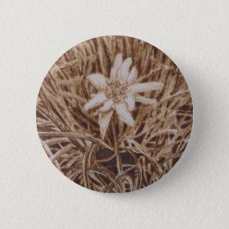 Edelweiss - Stella Alpina 6 Cm Round Badge