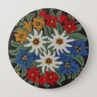 Edelweiss Swiss Alpine Flower 10 Cm Round Badge