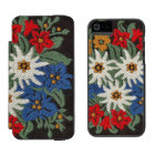 Edelweiss Swiss Alpine Flower Incipio Watson™ iPhone 5 Wallet Case