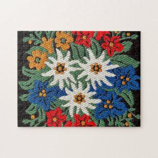 Edelweiss Swiss Alpine Flower Jigsaw Puzzle