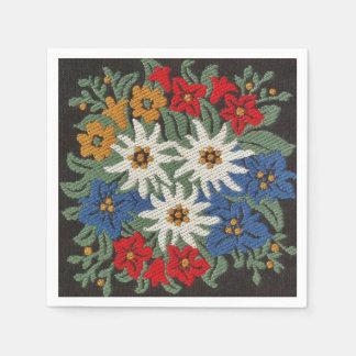 Edelweiss Swiss Alpine Flower Paper Napkin