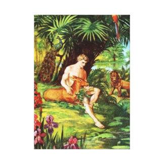 Eden Adam In The Garden Canvas Print