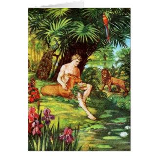 Eden Adam In The Garden Greeting Card