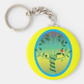 Eden Basic Round Button Key Ring
