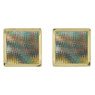 Eden Gold Plated Square Cufflinks by C.L. Brown Gold Finish Cufflinks