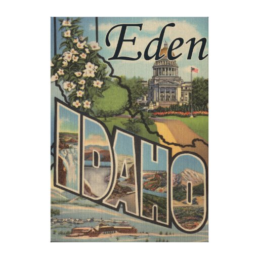 Eden, IdahoLarge Letter ScenesEden, ID Gallery Wrapped Canvas