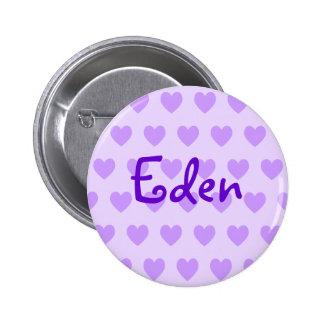Eden in Purple 6 Cm Round Badge