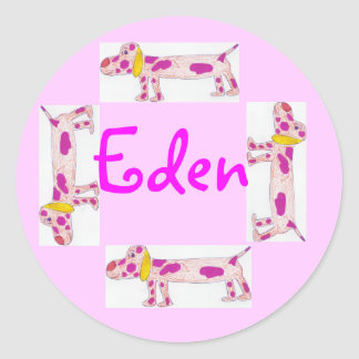 Eden name sticker