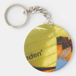 Eden Parachute Basic Round Button Key Ring