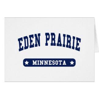 Eden Prairie Minnesota College Style tee shirts Card
