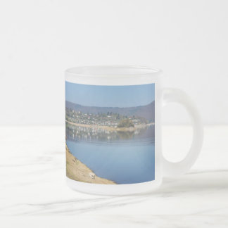 Edersee bay when bringing living frosted glass coffee mug