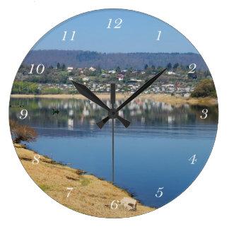 Edersee bay when bringing living large clock
