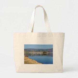 Edersee bay when bringing living large tote bag