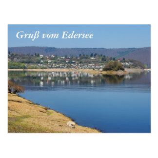 Edersee bay when bringing living postcard