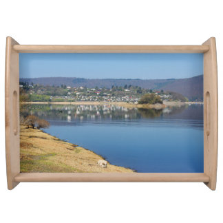 Edersee bay when bringing living serving tray