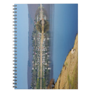 Edersee bay when bringing living spiral notebook