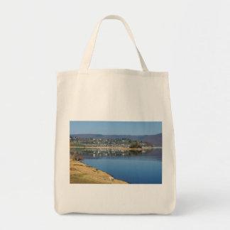 Edersee bay when bringing living tote bag