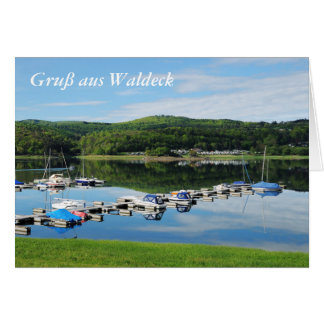 Edersee bay with separate card
