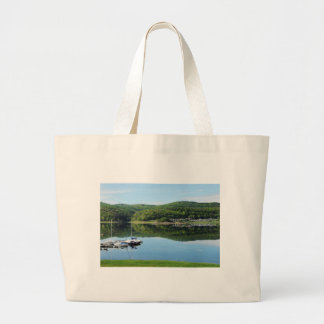 Edersee bay with separate large tote bag