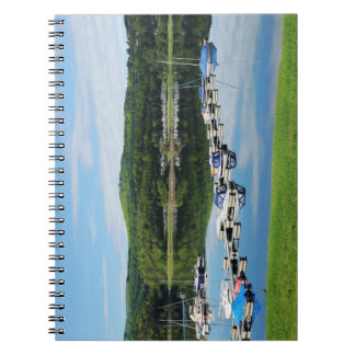 Edersee bay with separate notebooks