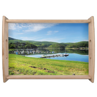 Edersee bay with separate serving tray