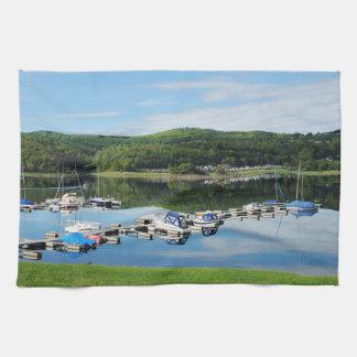 Edersee bay with separate tea towel