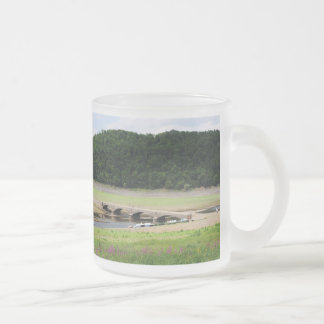 Edersee bridge of Asel Frosted Glass Coffee Mug