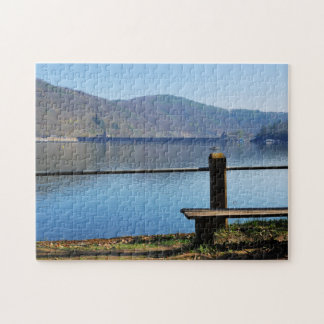 Edersee concrete dam from the water side jigsaw puzzle