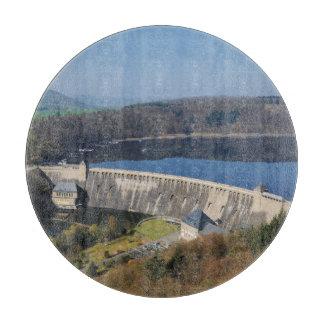 Edersee concrete dam in the spring cutting board