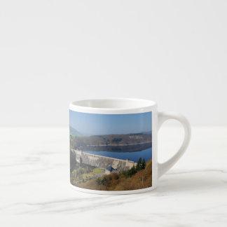 Edersee concrete dam in the spring espresso cup