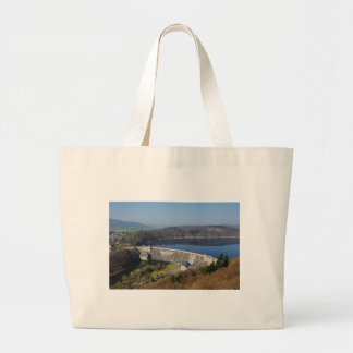 Edersee concrete dam in the spring large tote bag